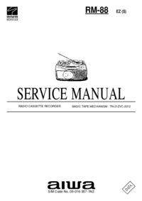Servicehandboek Aiwa RM-88