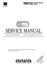 Instrukcja serwisowa Aiwa RM-P33
