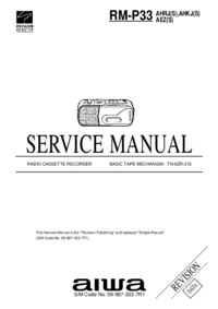 Manual de serviço Aiwa RM-P33