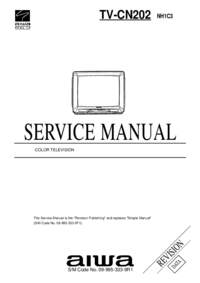 Service Manual Aiwa TV-CN202