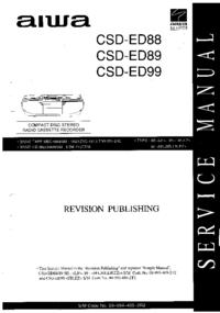 Руководство по техническому обслуживанию Aiwa CSD-ED99