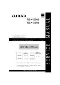 Service Manual Aiwa NSX-S505