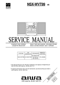 Manual de servicio Aiwa RC-ZAS08