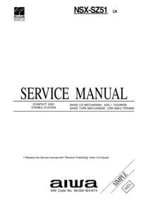 Service Manual Aiwa NSX-SZ51