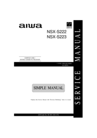 Service Manual Aiwa NSX-S223