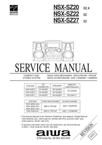 Manual de servicio Aiwa CX-NSZ22