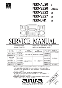 Manual de servicio Aiwa CX-NDR1