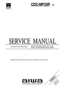 Manuale di servizio Aiwa CDC-MP33R