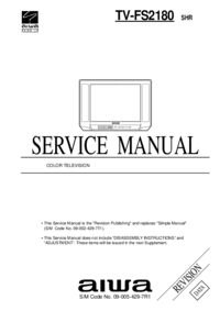 Manual de servicio Aiwa TV-FS2180