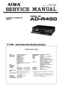 Manuale di servizio Aiwa AD-R450