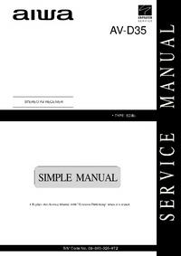 Servicehandboek Aiwa AV-D35