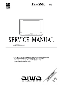 Suplemento Manual de servicio Aiwa TV-F2500