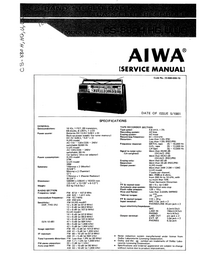 Service Manual Aiwa CS-880H