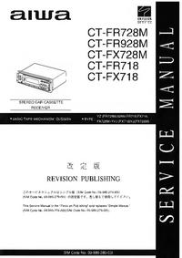 Руководство по техническому обслуживанию Aiwa CT-FX718