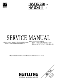 Service Manual Aiwa HV-GX911