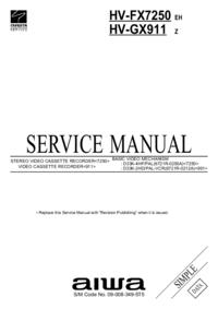 Instrukcja serwisowa Aiwa HV-GX911