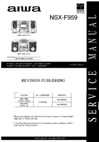manuel de réparation Aiwa NSX-F959