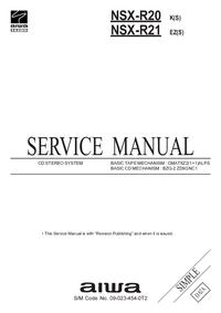 Manual de serviço Aiwa NSX-R21
