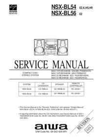 manuel de réparation Aiwa NSX-BL54