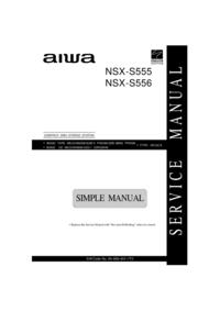 Servicehandboek Aiwa NSX-S556