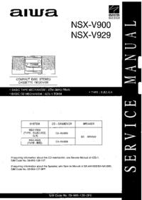 Servicehandboek Aiwa NSX-V900