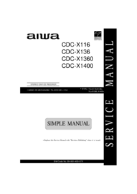Service Manual Aiwa CDC-X1360