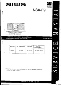 Service Manual Aiwa NSX-F9