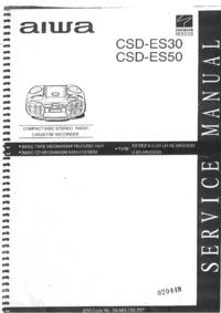 Руководство по техническому обслуживанию Aiwa CSD-ES30