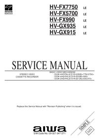 Service Manual Aiwa HV-GX935