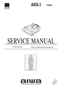Service Manual Aiwa AZG-1 Z8RDLC1