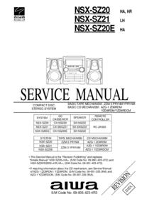 Manual de serviço Aiwa NSX-SZ20 HA,HR