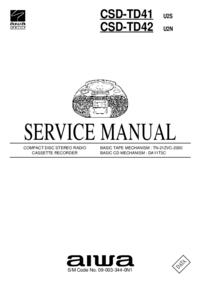 Manuale di servizio Aiwa CSD-TD41 U2S