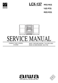 Manual de servicio Aiwa LCX-137 HA(S)