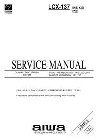 Manuale di servizio Aiwa LCX-137 LH(S)