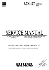 Service Manual Aiwa LCX-137 LH(S)