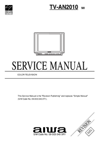 Manual de servicio Aiwa TV-AN2010 NH