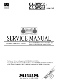 Manual de servicio Aiwa CA-DW245 HR