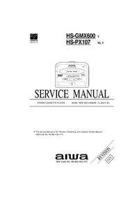 Serviceanleitung Aiwa HS-PX107 Y