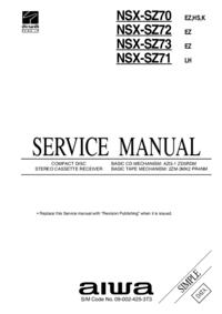 Serviceanleitung Aiwa NSX-SZ72 EZ