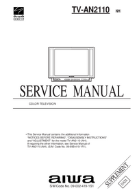 Servicehandboek Aiwa TV-AN2110 NH