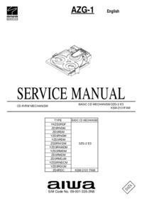 Instrukcja serwisowa Aiwa AZG-1 ZD3RMDM