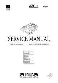 Instrukcja serwisowa Aiwa AZG-1 YZD8RDCM
