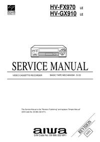 Servicehandboek Aiwa HV-GX910