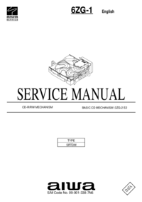 manuel de réparation Aiwa 6ZG-1 SRTDM