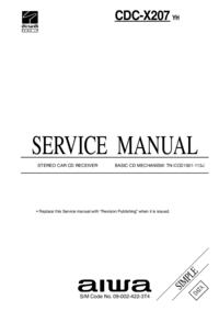 Manual de serviço Aiwa CDC-X207 YH