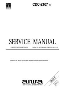 Servicehandboek Aiwa CDC-Z107 YH