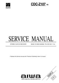 Manuale di servizio Aiwa CDC-Z107 YH
