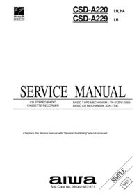 Service Manual Aiwa CSD-A220 HA, LH