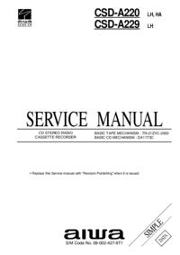 manuel de réparation Aiwa CSD-A220 HA, LH