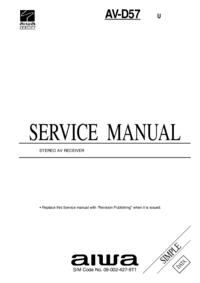 Manual de serviço Aiwa AV-D57 U